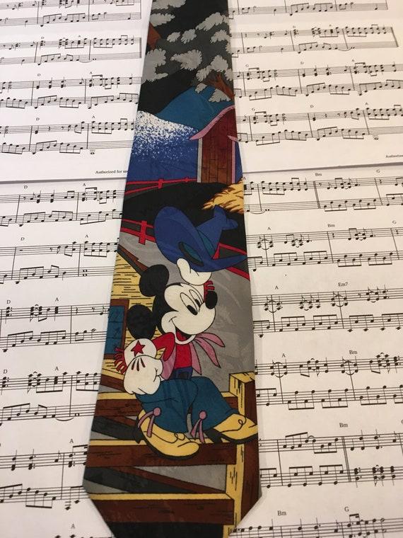 Mickey Mouse Necktie, Cowboy Mickey Tie - image 2