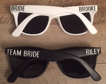 4068312de98a Team Bride Sunglasses - Bachelorette Party Sunglasses - Custom Sunglasses -  Personalized Sunglasses - Bride and Team Bride Sunglasses