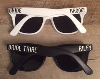 Bride Tribe Sunglasses - Bachelorette Party Sunglasses - Custom Sunglasses - Personalized Sunglasses - Bride and Bride Tribe Sunglasses