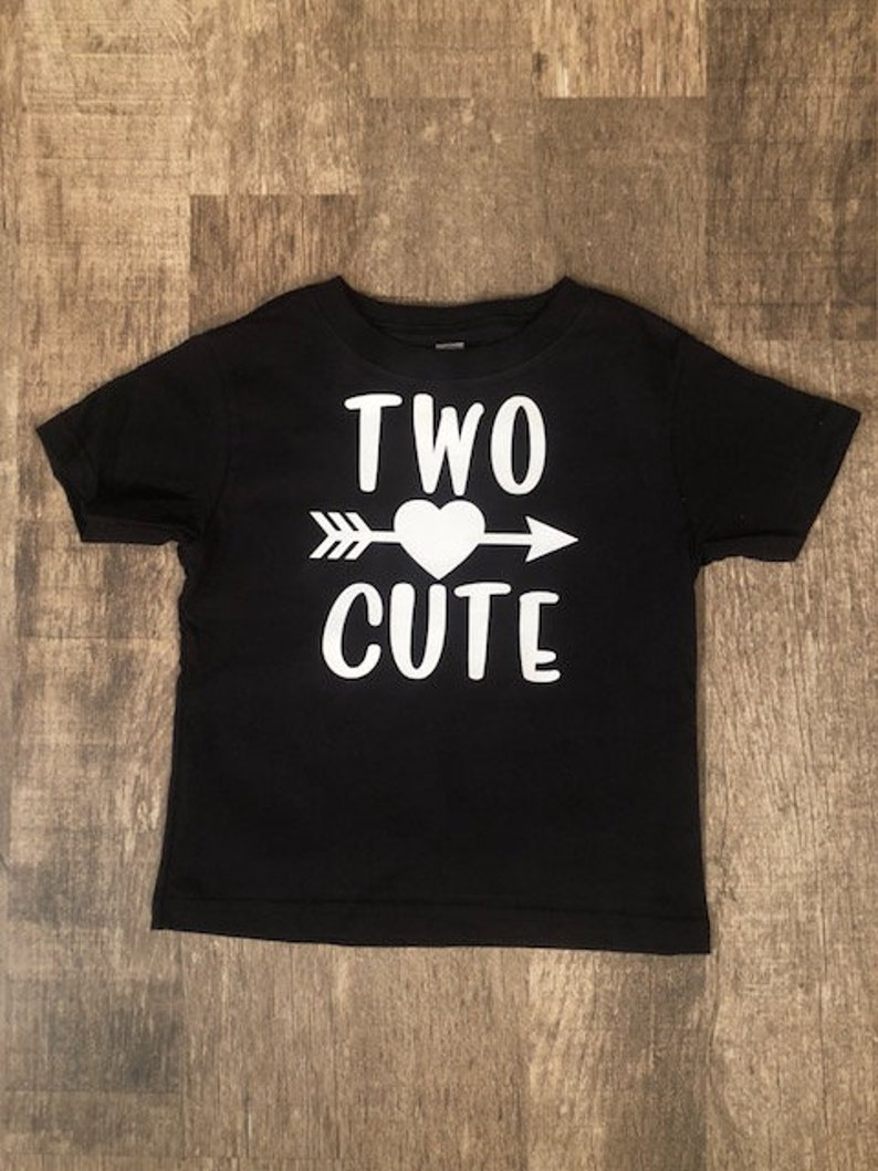 Two Cute Toddler Shirt 2nd Birthday