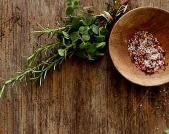 Styled stock photography | Rustic mockup| Countryside style | Food mockup | Fresh herbs | Instant download