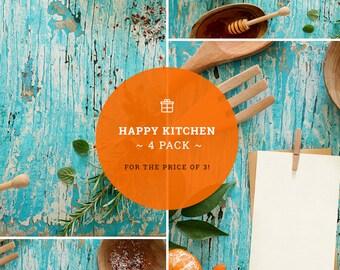Download Free Mockups Pack | Kitchen mockups | Surfaces set | Food branding | Mockups deal | 4 set | Creative mockups | High Res | Instant download PSD Template