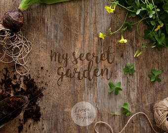 Rustic background | Styled image | Gardening photo | Rustic stock image | Gardening mockup | Grow your own | Rustic wood | Instant download