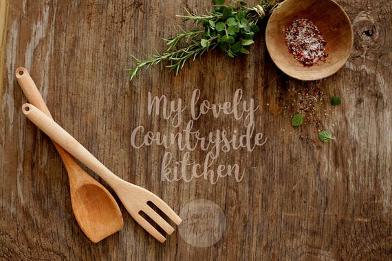 Styled Stock Photography Food Mockup Wood Background Rustic Wooden Kitchen Countryside High Res Instant Download