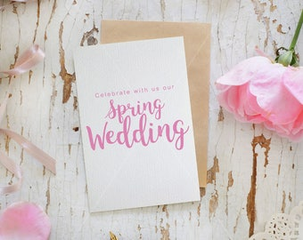 Wedding card mockup | Shabby chic  | Save the date PSD mockup | White Rustic background | Pink roses | High res | Instant download