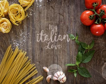 Rustic landscape mockup | Food mockup | Your text here | Rustic image | Pasta mockup | Italian Food image | Wood mockup | Instant download