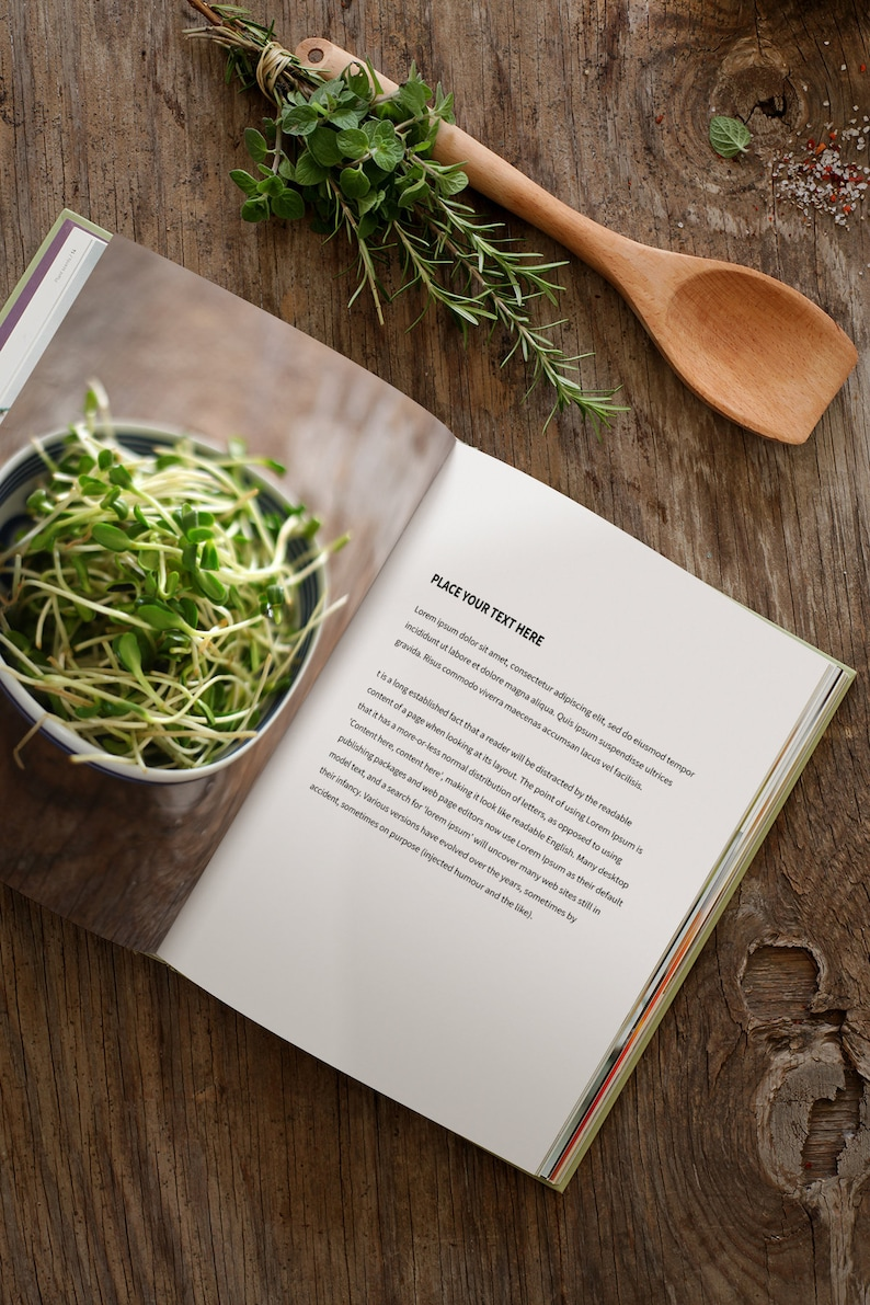 Open book mockup Double spread For foodies Recipes image 0