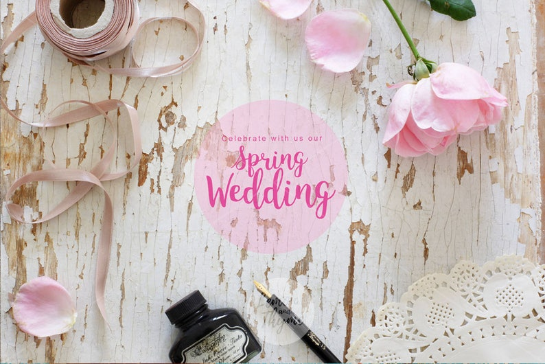 Styled stock image | Wedding mockup | White rustic background | Pink roses  | Romantic style | Shabby chic | High res | Instant download