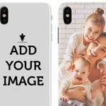 Personalized iPhone Xs, XS Max, Xr 8, 7, Case - Make your Phone Case - Customized Case with Your Photo, Quote, Text - Custom Case for iPhone