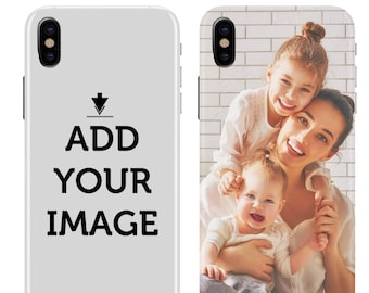 Personalized iPhone X, 8, 7, 6 Case - Make your Phone Case - Customized Case with Your Photo, Quote, Text - Custom Case for iPhone, LG