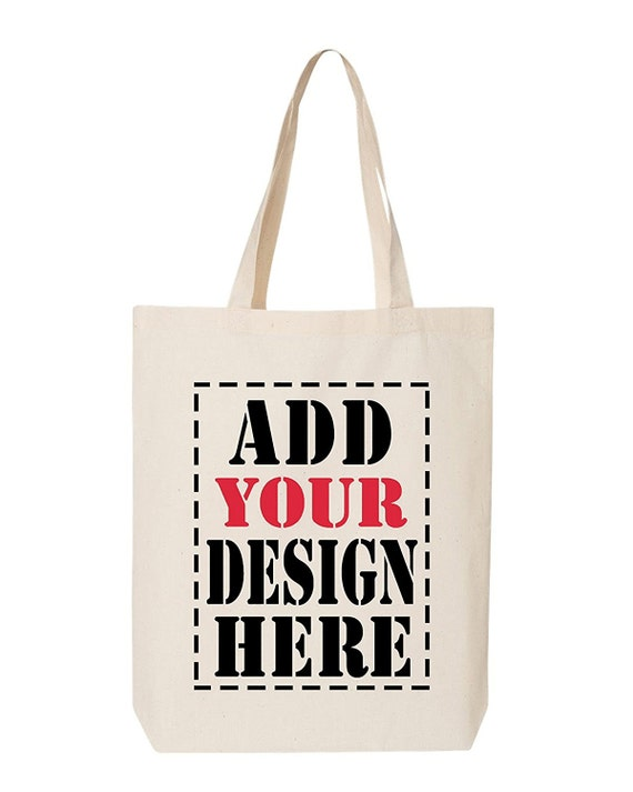 Design Your Own BAG Customized Tote Add your Picture Photo  027a3791ca454