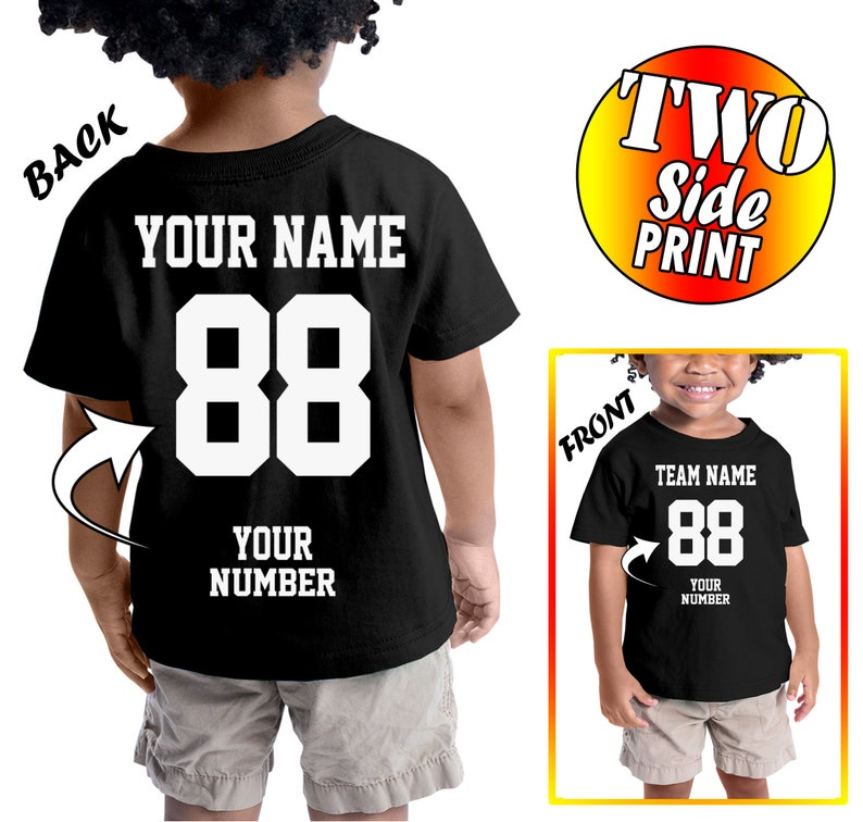 9b76ae5b9 Custom 2 sided T-Shirts For Toddlers and Youths Design Your | Etsy