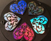 Holographic Heart Key Cha...