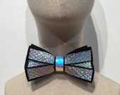Holographic Chrome Bow Tie | EDC Wedding | Rave Wedding | EDM | Rainbow Bow Tie | Gifts for Him | Wedding Bachelor Gifts