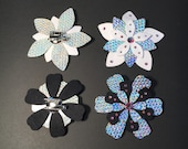 Holographic Flower Hair C...