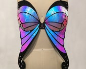 Black Holographic Butterfly Bra | Rave Outfit | Festival Bra | Butterfly Costume | Burning Man | Drag Queen Costume