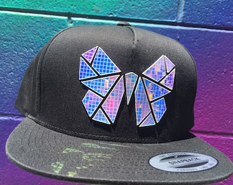 Chrome Monarchy Snapback   Butterfly Hat   Holographic   EDC   Rave   EDM   Holiday Gifts   Gifts for Him   Gifts for Her