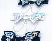 Holographic 3D Butterfly Garter | Lingerie | Holographic Fashion | Statement | Wedding Garter | Kawaii | Unique | Festival | Rave | EDC |