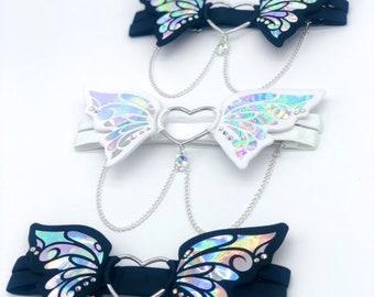 Holographic 3D Butterfly Garter   Lingerie   Holographic Fashion   Statement   Wedding Garter   Kawaii   Unique   Festival   Rave   EDC  