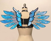 Holographic Cosplay Wings | Mercy Overwatch Wings | Iridescent Angel Wings | Fantasy | Festival Costume | Anime