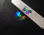Holographic Butterfly Bandana | Rave Bandana | Face Mask | Dust Mask | EDC | Burning Man | Hologram | Gifts Under 20