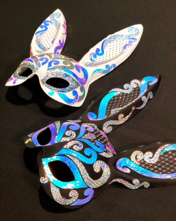 Adult size Iridescent Rainbow Butterfly Masquerade Mask fnt