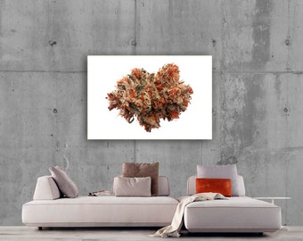 Cannabis Artwork ''Fire OG'' by Dogcan Susluoglu, Original Print 45'' x 60''