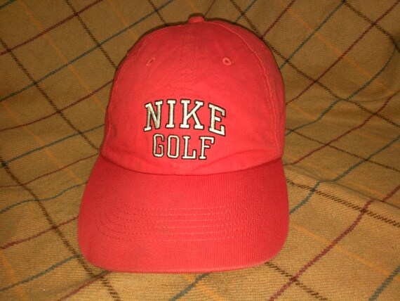 539f1cd4f87 Vintage Red Nike Cap Hat Vintage Nike Golf Cap Hat