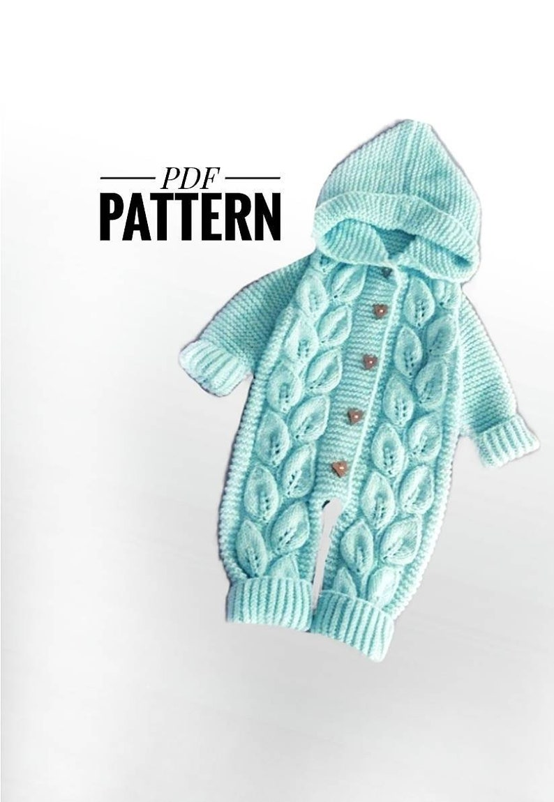 Knitted Leaves Jumpsuit PDF Pattern image 0