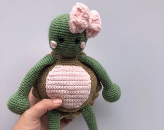 Crochet Turtle - MADE TO ORDER - Handmade Crochet Amigurumi Toy Doll - Turtle Crochet - Amigurumi Turtle - Newborn Prop