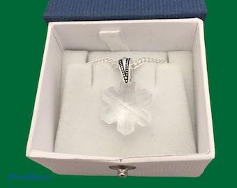 Austrian crystal snowflake pendant necklace