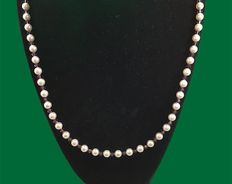 Austrian crystal white pearl & amethyst color necklace