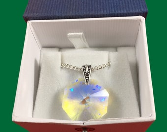 Austrian crystal aurora borealis octagon necklace