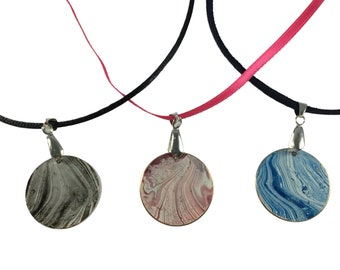 Brass Marbled Patina Necklaces