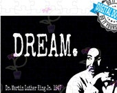 Inspirational Art Quote | Printable digital download from MLK quote: I Have A Dream | For teachers, students, and inspiration | USA Made.