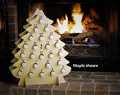 Wine Advent Calendar for Christmas - wooden tree holds Mini Bottles of Wine, Bubbly, Cider, and more! Best gift ever, ON SALE NOW!