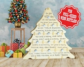 Wine Advent Calendar for Full Sized Bottles - 12-Days of Christmas Wine Rack for Wine, Bubbly, Cider, & more! Best Housewarming Party Gift!