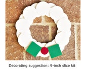 Minimalist Modern DIY Wood Wreath KIT - unfinished and unassembled shapes that you can create your Holiday decor