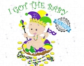 Mardi Gras King Cake Baby - I Got the Baby   King Cake Baby SVG and PNG   Fat Tuesday Cut File of King Cake Baby