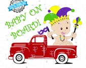 Mardi Gras Truck svg, Mardi Gras svg, Happy Mardi Gras, Jester Hat svg, Louisiana Mardi Gras svg, Digital Files svg png Cricut, Silhouette