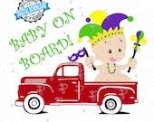 Mardi Gras Truck svg, Mardi Gras svg, Happy Mardi Gras, Jester Hat svg, Louisiana Mardi Gras svg, Digital Files svg png Cricut, Silhouette
