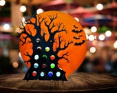 Halloween Tree for Holding Mini Liquor Bottles in 3D - Celebrate with 13 Spooky Shots for the Spirits