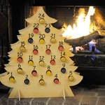 Christmas Tree-Shaped Advent Calendar for Mini Bottles of Wine, Bubbly, Cider, and more!