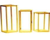 Lantern Enclosures for Wedding Table and Venue Decor - Minimalist lantern frames table decor