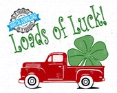 Saint Patrick's Day Vintage Old Truck SVG. Shamrock SVG, St Patrick's Day Clover svg, Cricut Files svg png, Silhouette, Cameo. USA Seller.