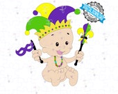 Mardi Gras King Cake Baby SVG and PNG Celebrating Fat Tuesday and Mardi Gras. Cut File for Cricut, Silhouette
