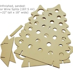 Christmas Tree-Shaped Advent Calendar for Mini Bottles of Wine, Bubbly, Cider, SHOTS, and more!
