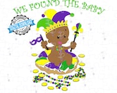 Mardi Gras King Cake Black Baby - I Got the Baby   King Cake with Brown Baby SVG & PNG   Fat Tuesday Cut File of Black King Cake Baby