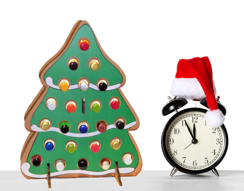 Gingerbread Cookie Tree-Shaped Christmas Advent Calendar for image 0
