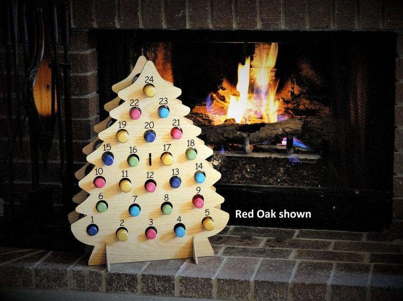 Christmas Tree-Shaped Wine Advent Calendar for Mini Bottles of image 0